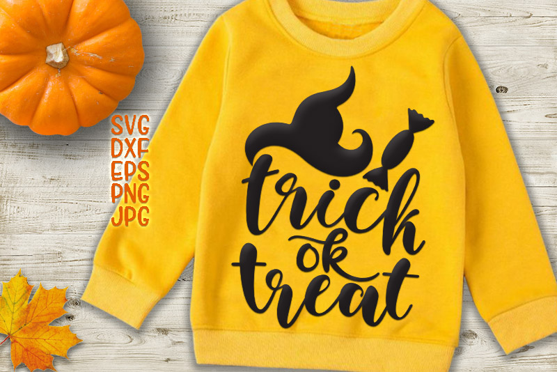 trick or treat svg, Halloween Svg files example image 1
