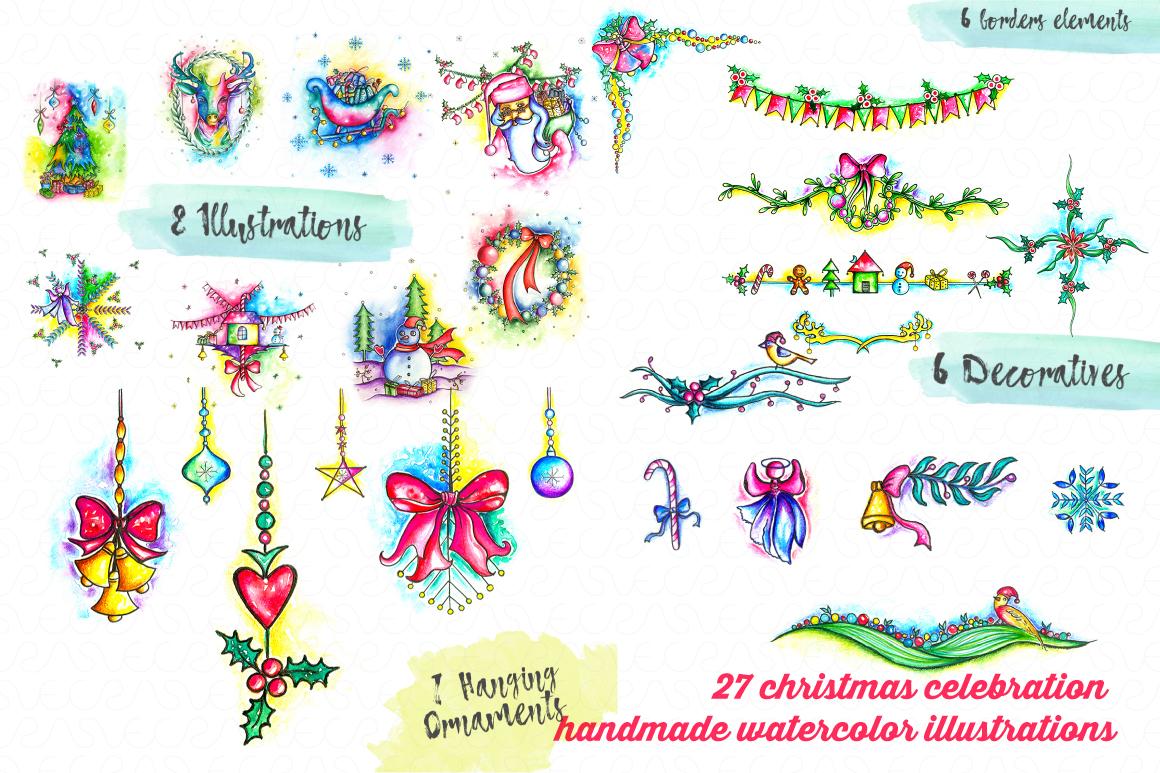 Christmas & New Year Bundle of Ornamental Mockups & Graphics example image 9