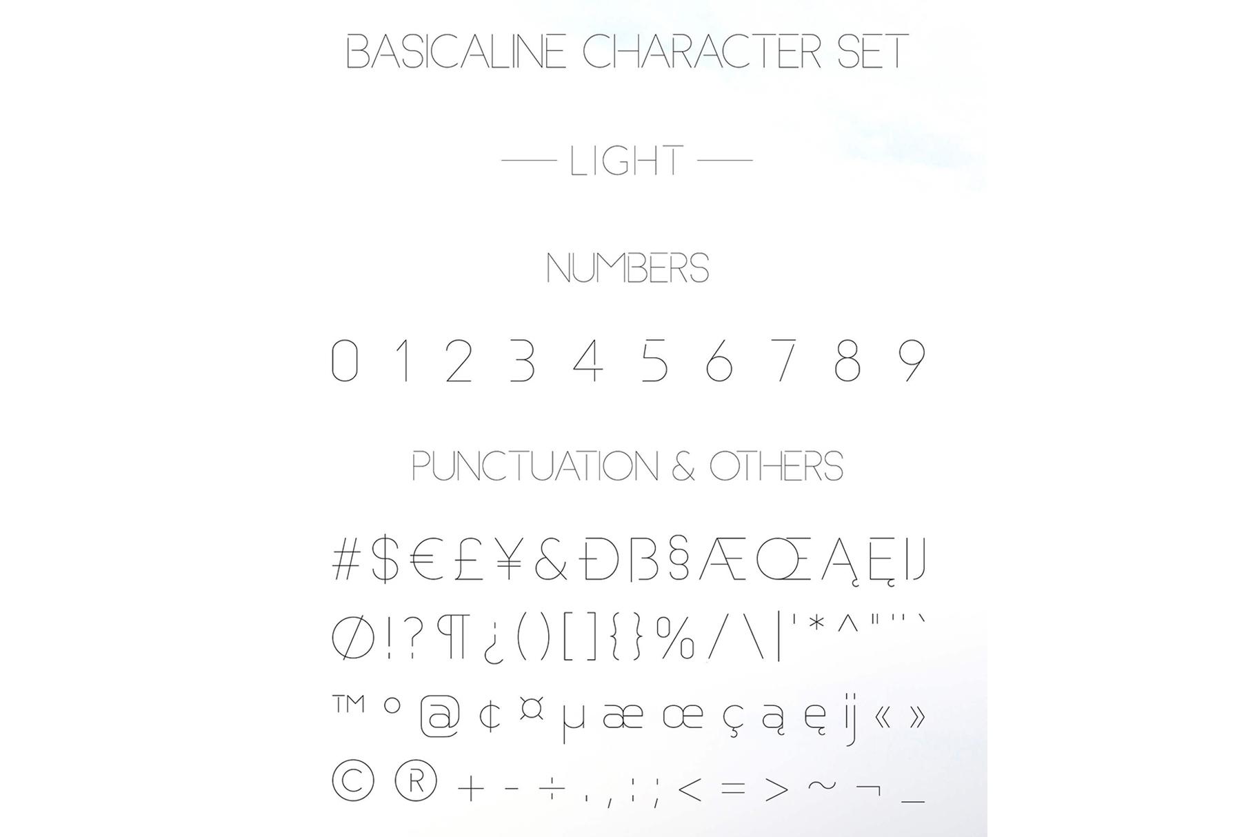 Basicaline Font Family - Sans Serif example image 8