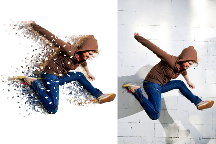 Splatter Dispersion Photoshop Action example image 9