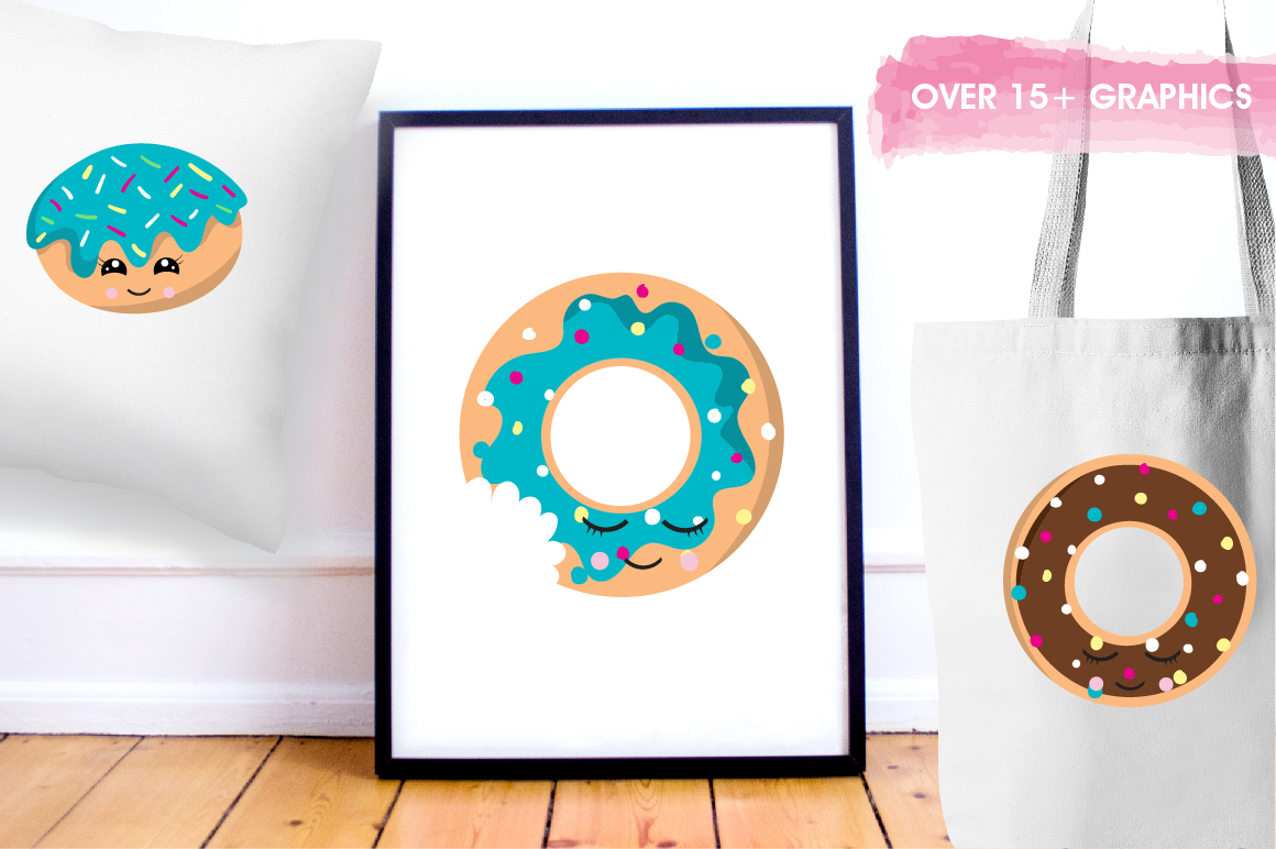 Cutie Donuts graphics and illustrations example image 5
