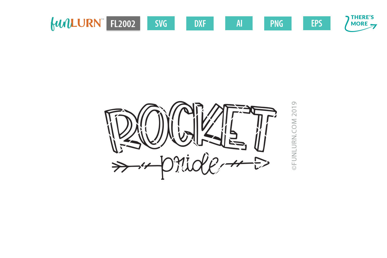 Rocket Pride Team SVG Cut File example image 2