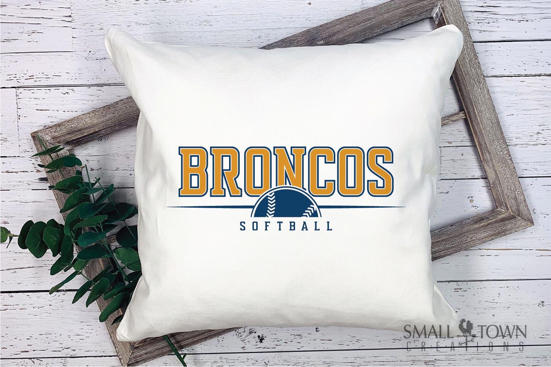 Bronco Softball, Logo, Team, Sports, PRINT, CUT & DESIGN example image 3