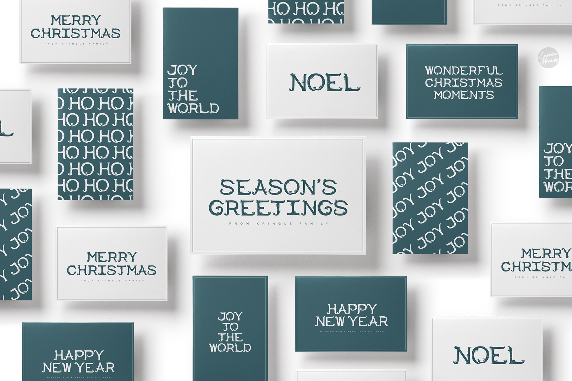 4in1 ERION FONT - Christmas Winter Version example image 13