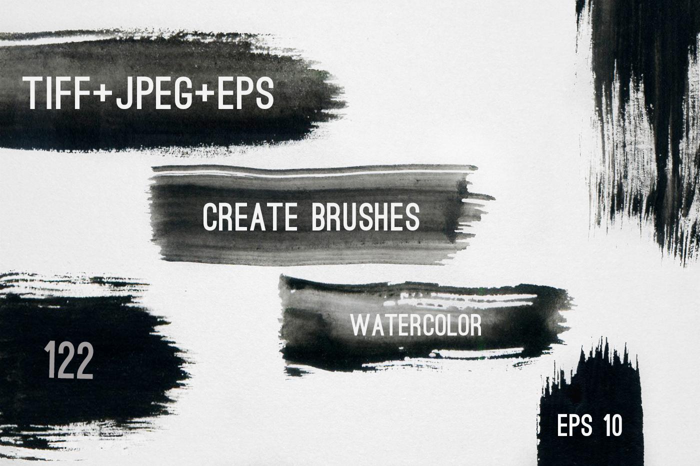 122 Watercolor Strokes example image 1