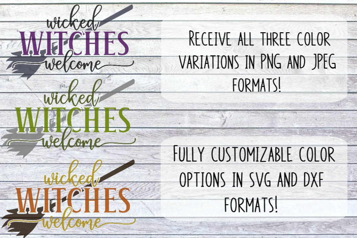 Wicked Witches Welcome Front Porch Sign SVG PNG JPG DXF example image 4