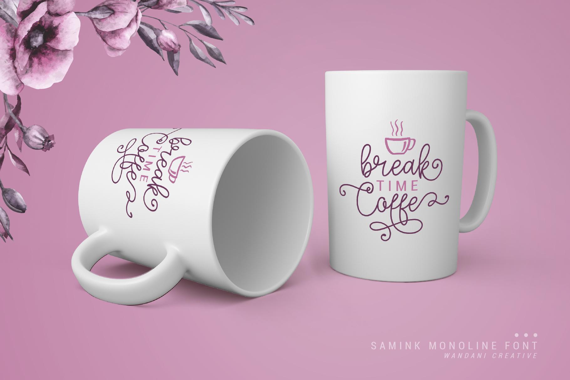 Samink Monoline font & Extras example image 4
