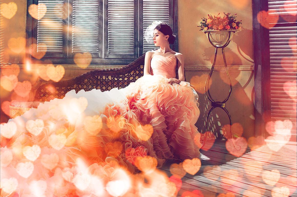 Romantic Heart Bokeh Photo Overlays example image 4