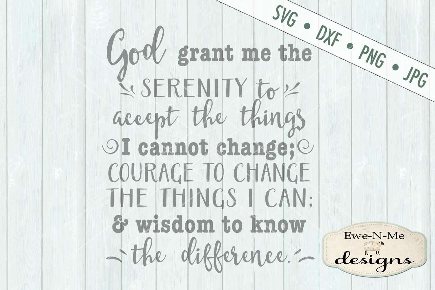 Serenity Prayer SVG DXF Cut File example image 2