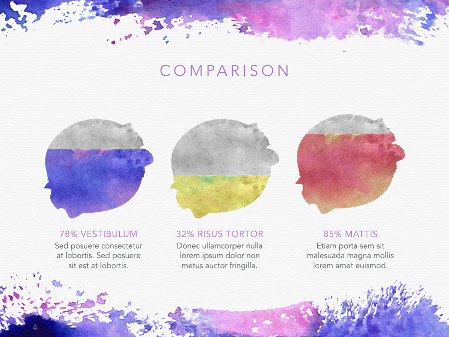 Watercolor PowerPoint Template example image 7