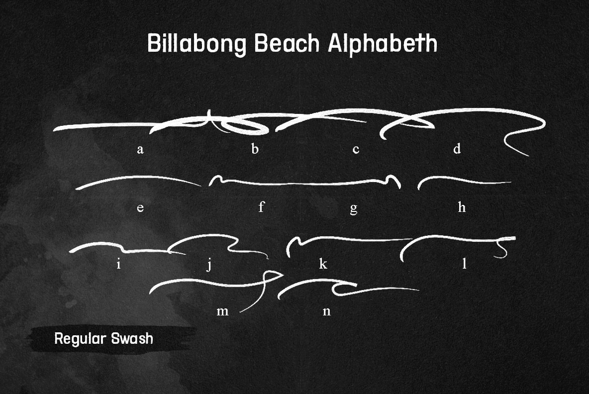 Billabong Beach SVG Font Duo example image 15