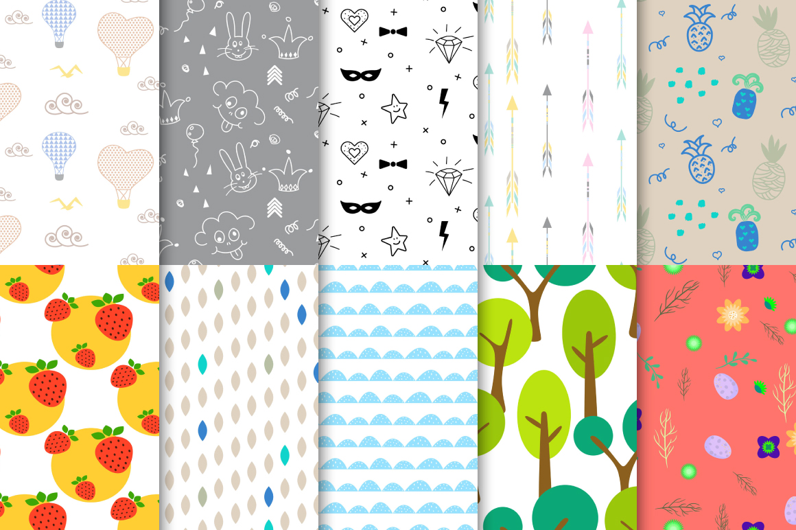 50 Happy Kids Patterns example image 3