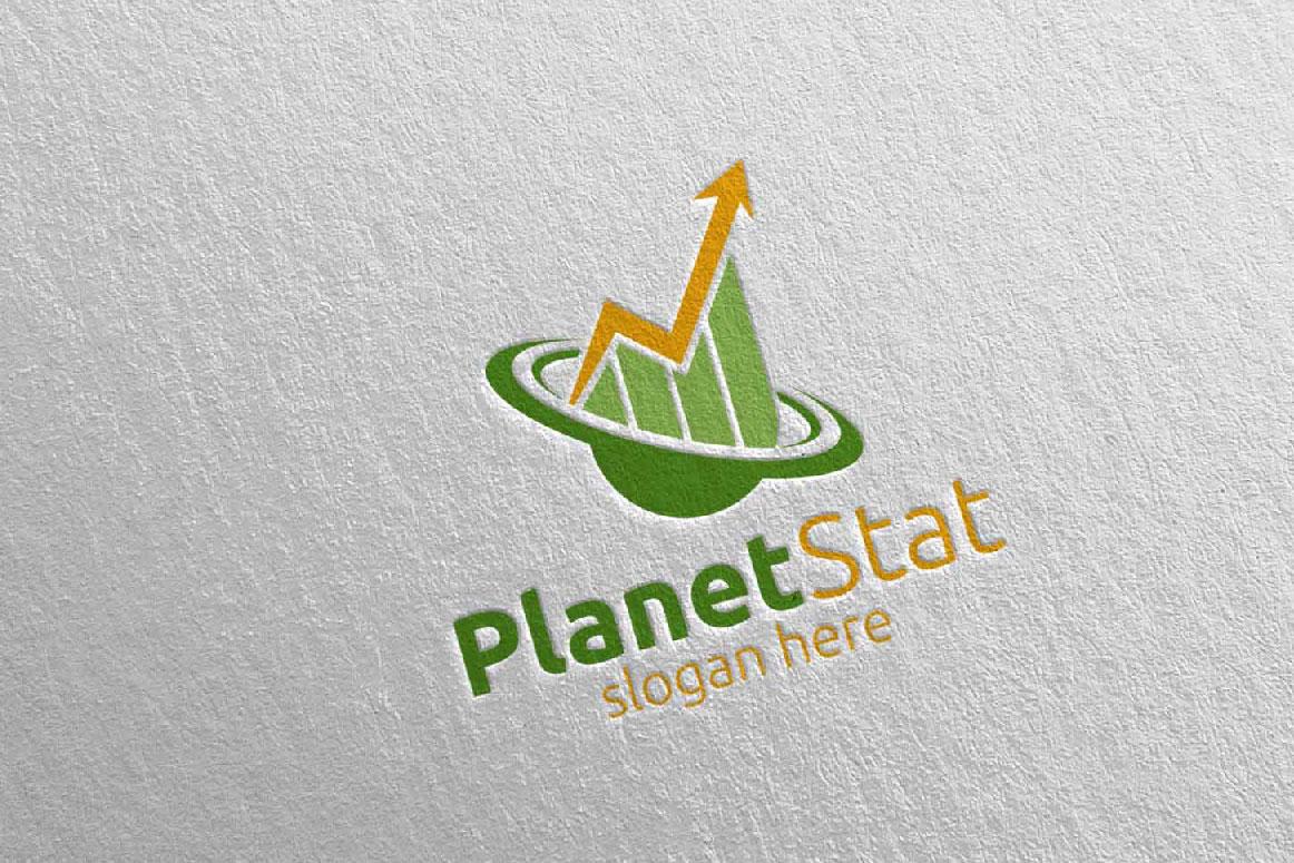Planet Marketing Financial Advisor Logo Design 25 example image 2