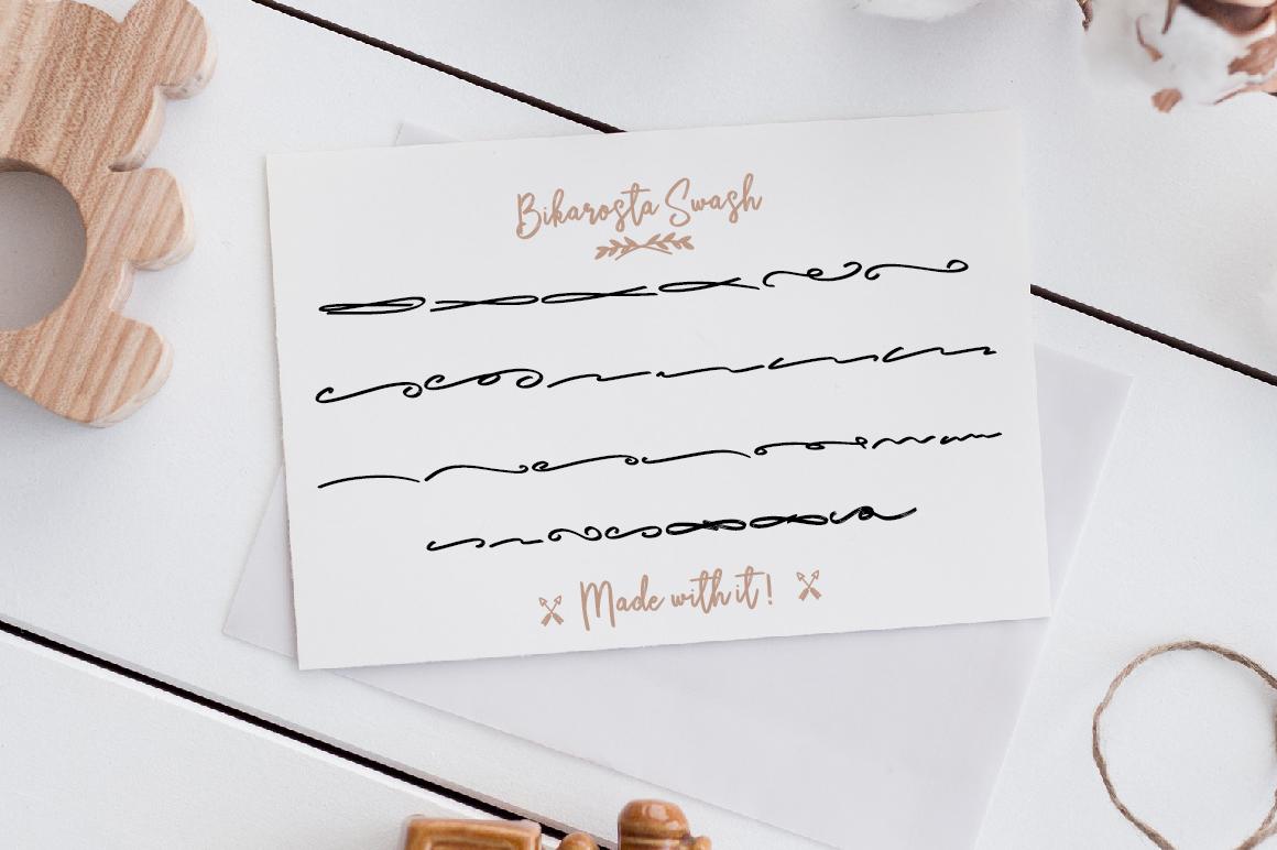 Bikarosta Font Duo with Extras example image 14