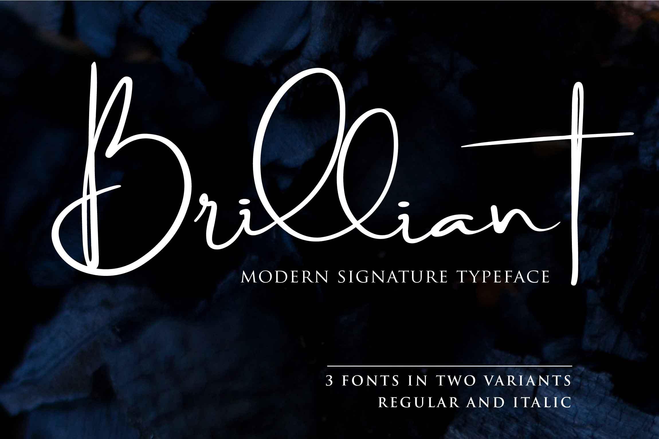 Brilliant - 3 Signature Font example image 1