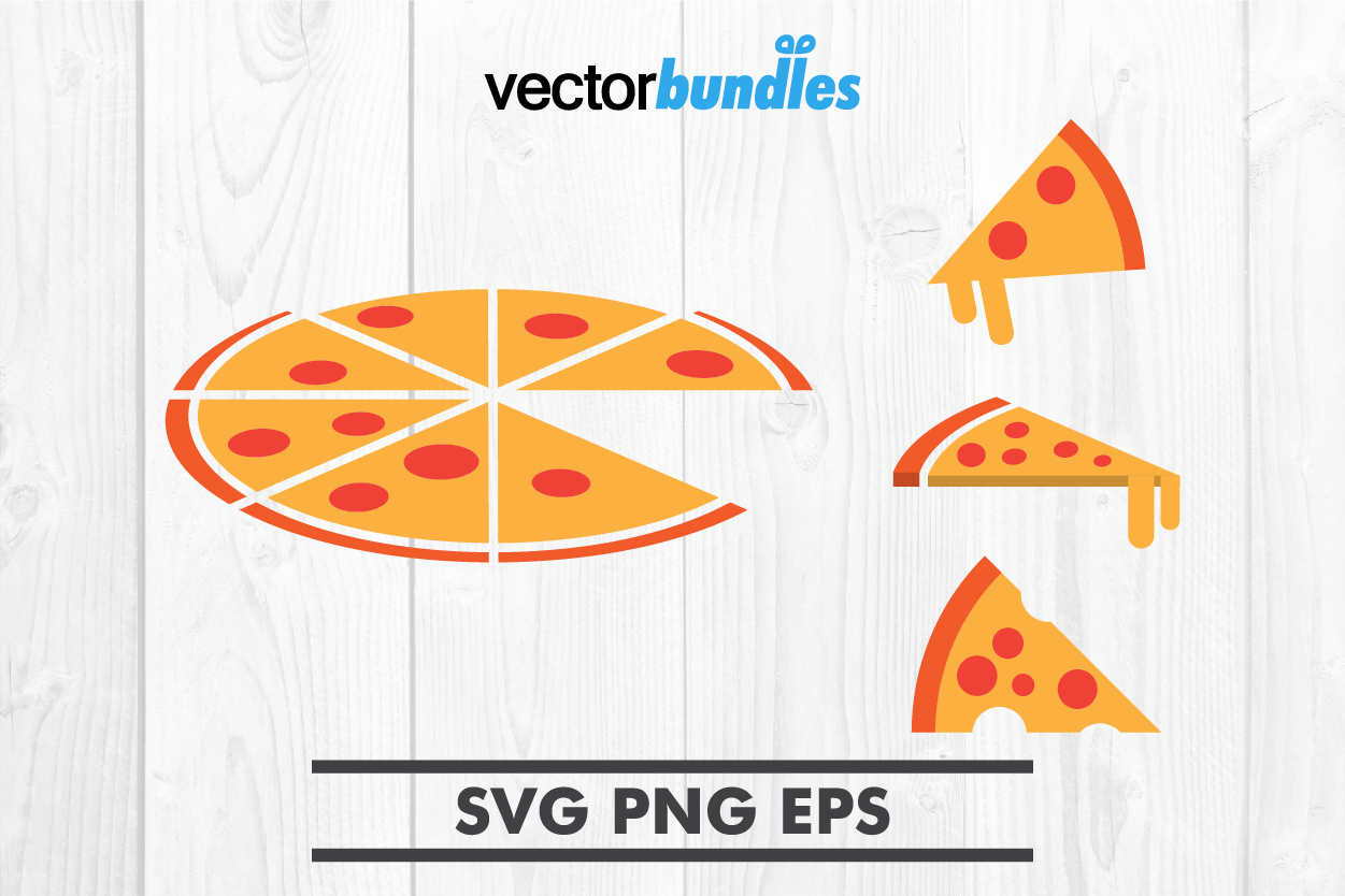 Pizza clip art svg example image 1