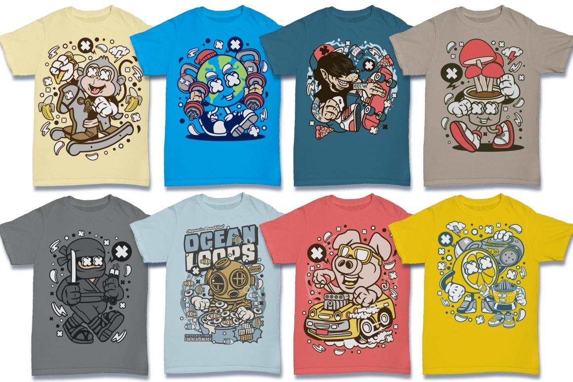 Cartoon Vector #6 Tshirt Design Bundle example image 16