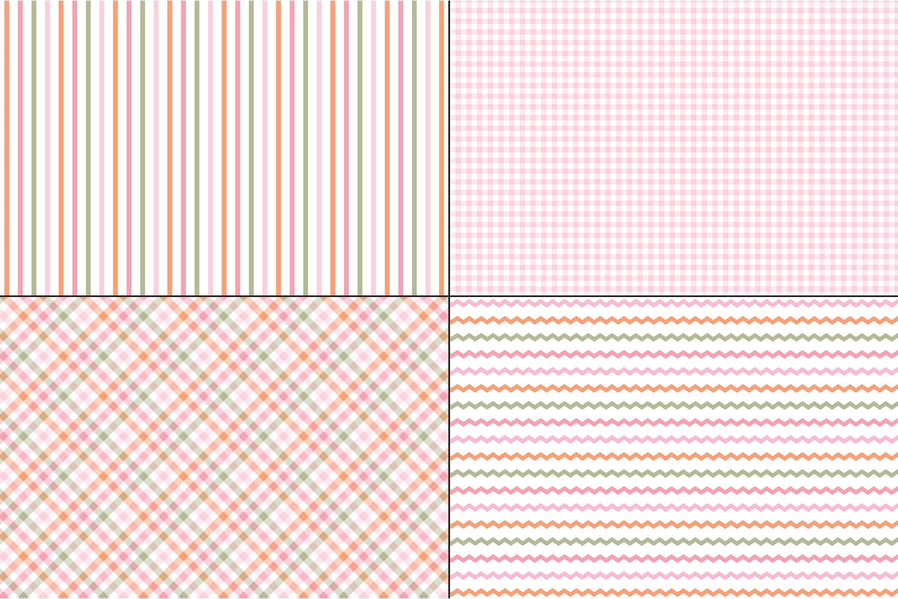 Pink and Orange Plaids & Stripes example image 2