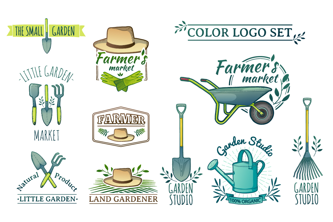Garden/Farm icon and logo set example image 6