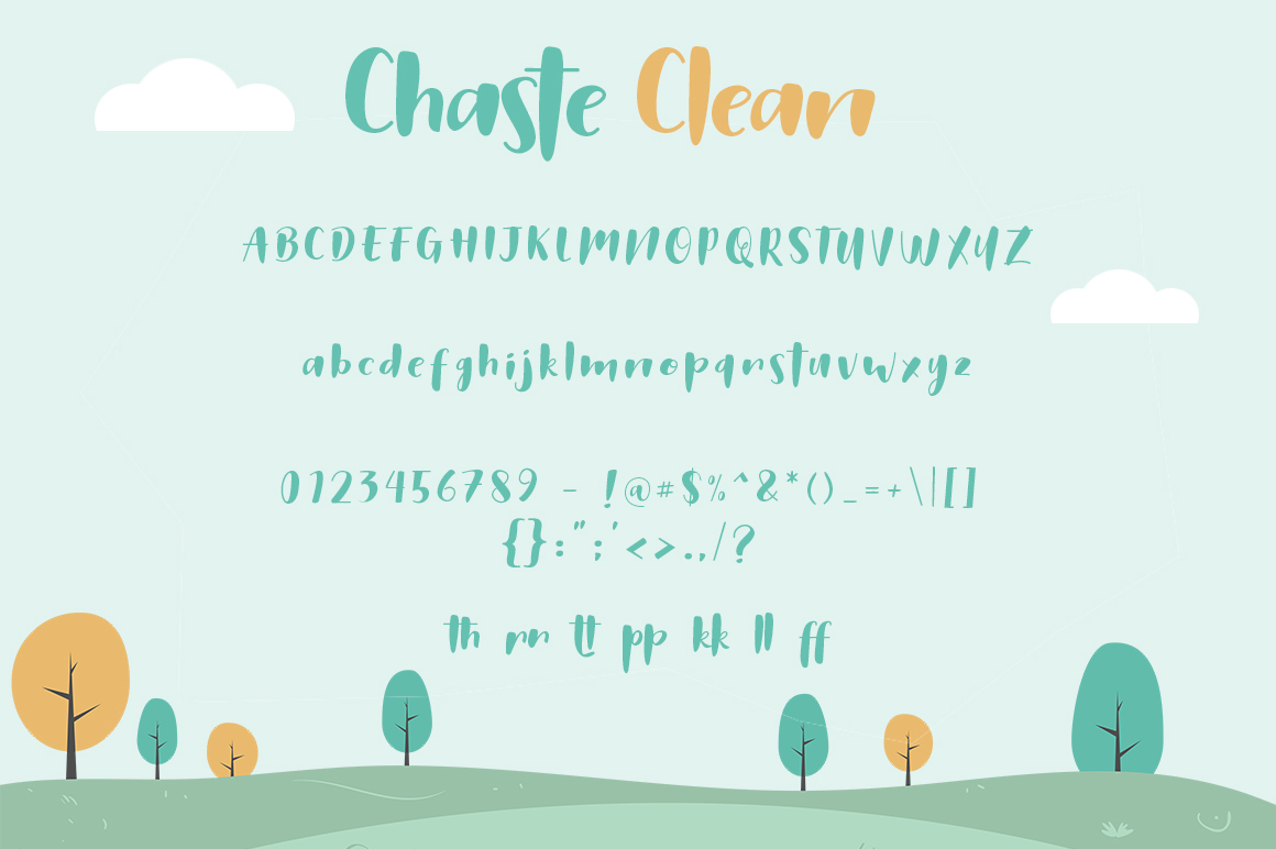 Chaste Display 3 Font example image 2