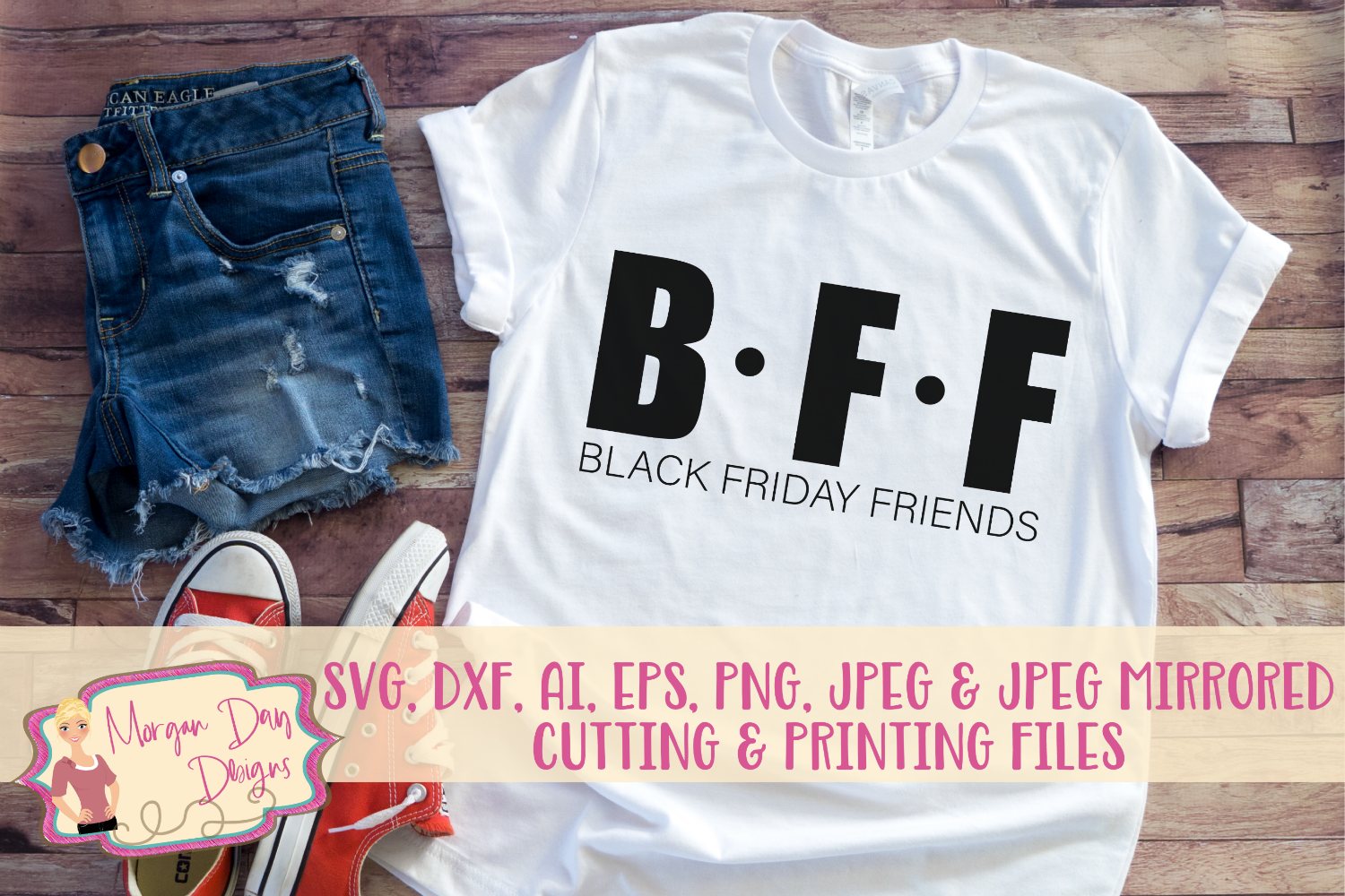 Black Friday Friends SVG, DXF, AI, EPS, PNG, JPEG example image 1