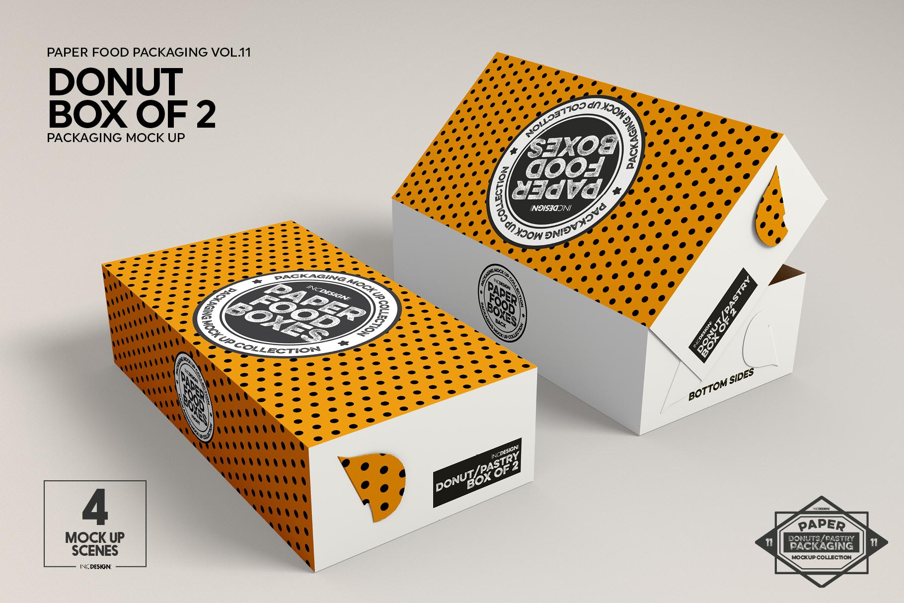 VOL.11 Food Box Packaging MockUps example image 13