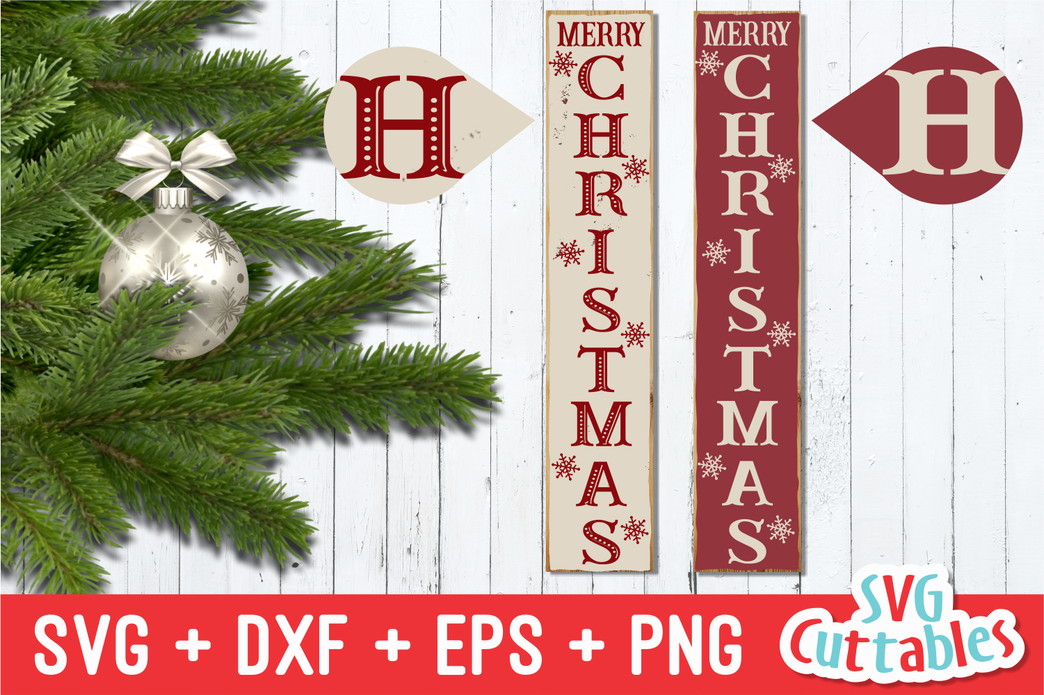 Merry Christmas Vertical |Cut File example image 1