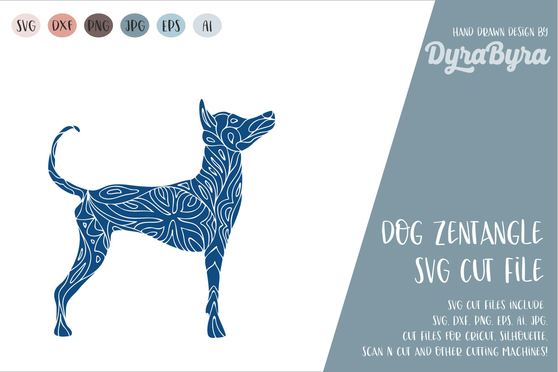 Dog SVG / Mandala SVG / Zentangle / Boho SVG example image 2