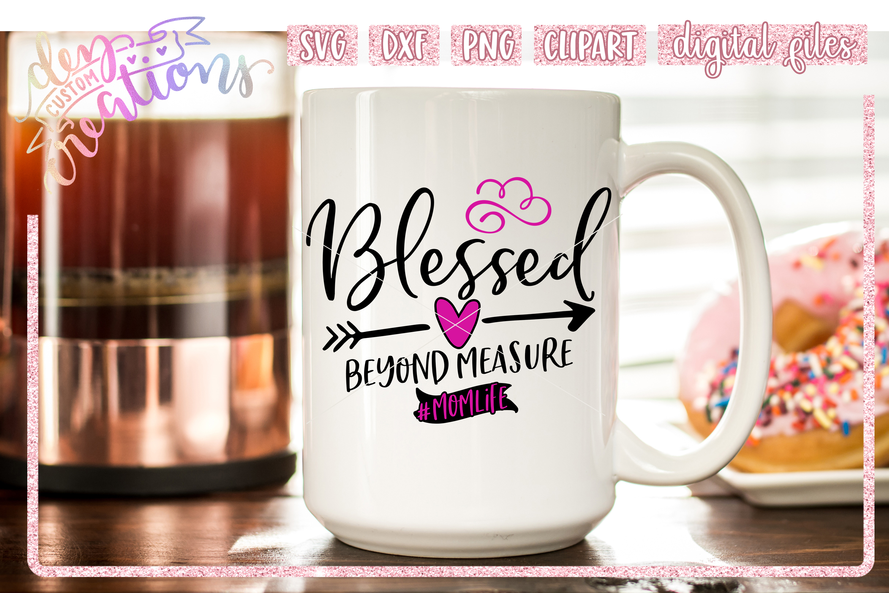 Blessed Beyond Measure - SVG DXF PNG File example image 3