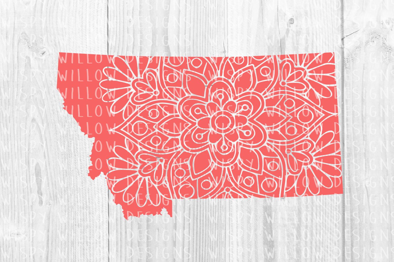Montana State Mandala SVG Cut File example image 2