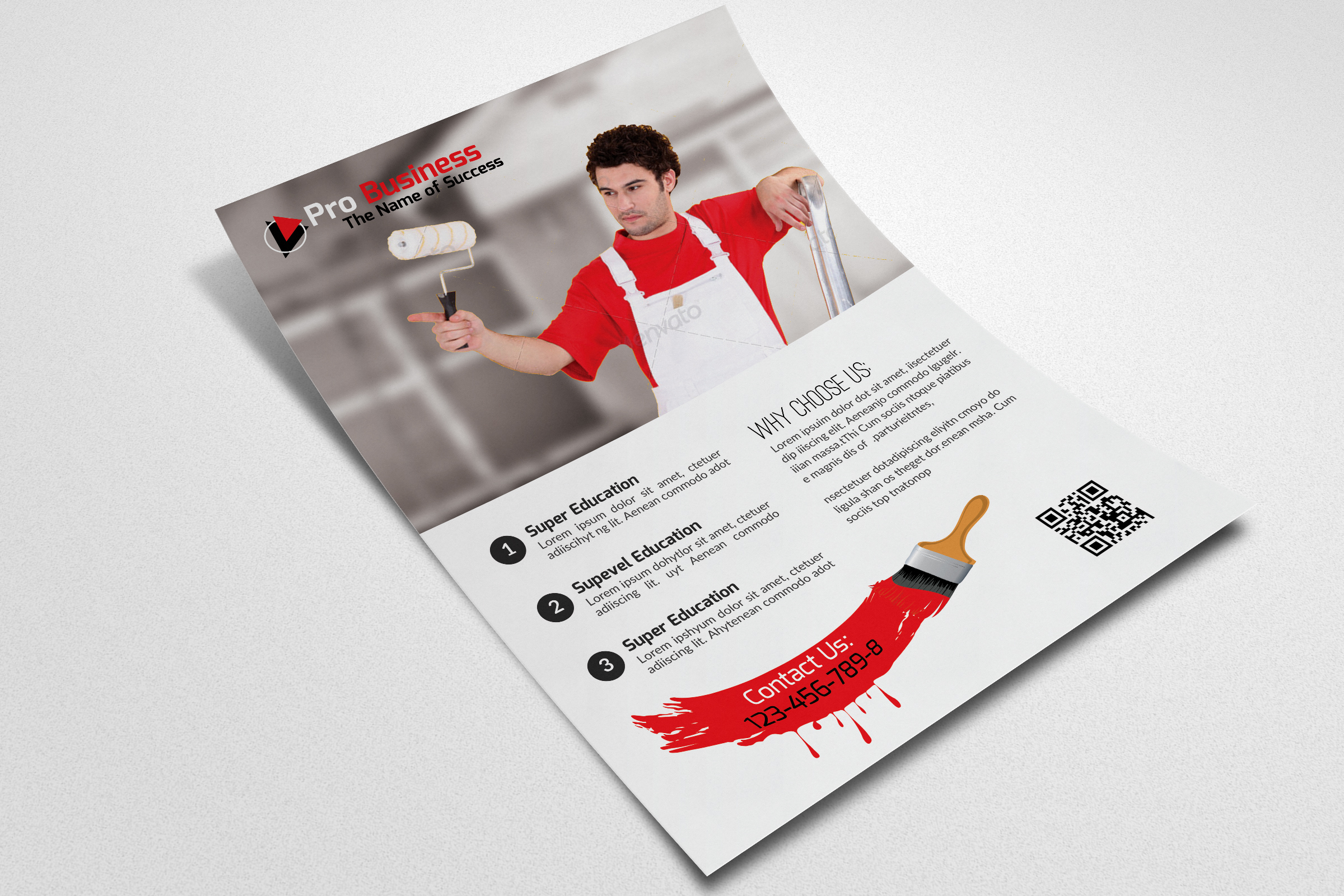 House Paint Conductor Flyer Template example image 3