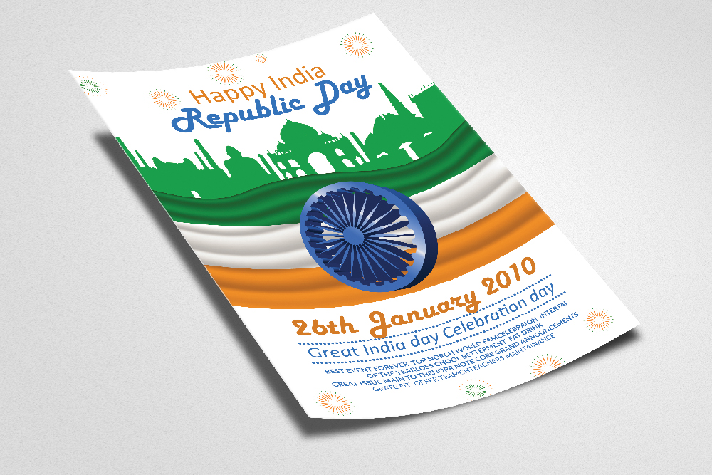 Happy Indian Republic Day Flyer/Poster example image 2