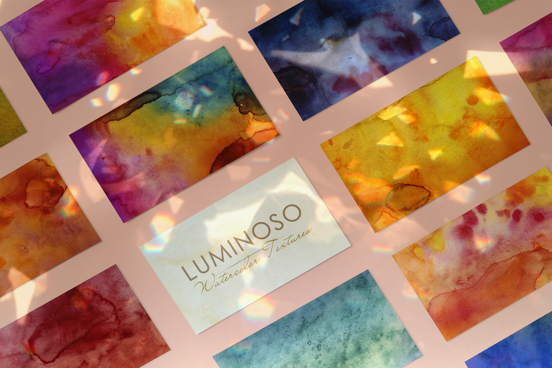 Luminoso Watercolor Textures example image 9