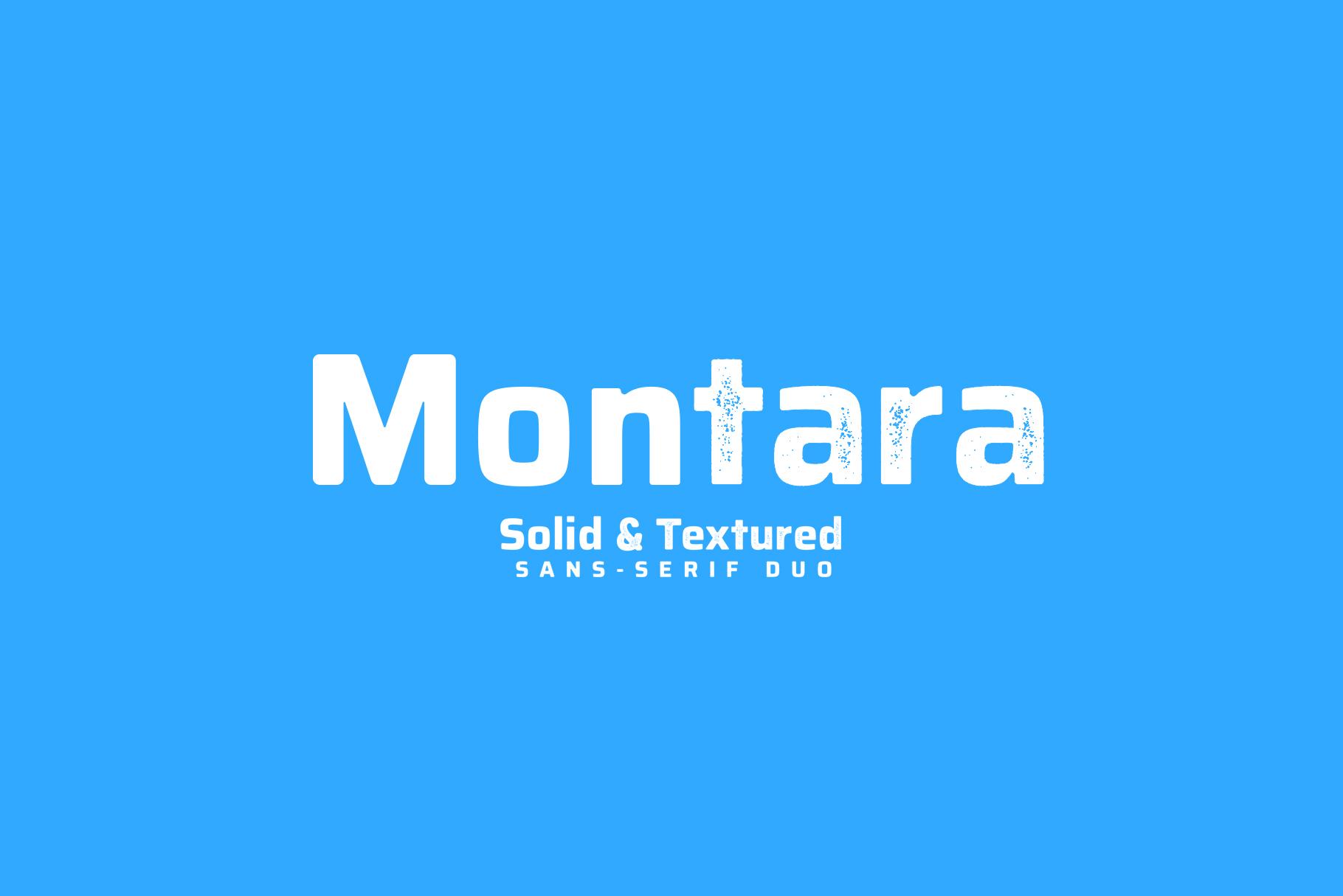 Montara - Sans serif duo Clean+Textured version example image 1