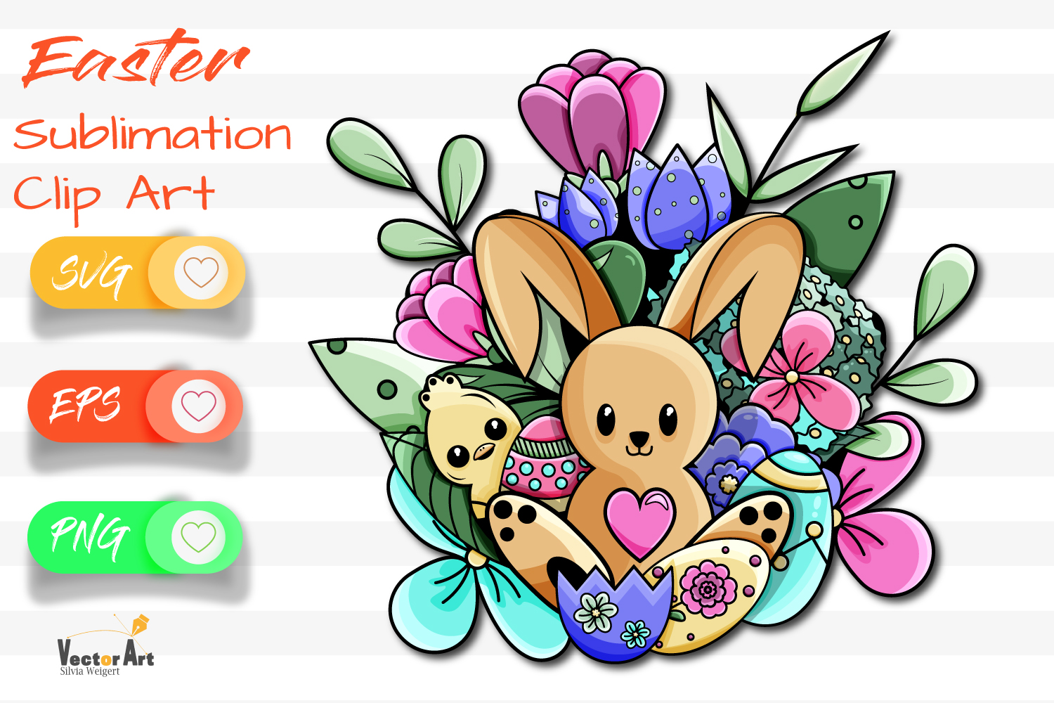 Happy Easter - Sublimation / Clip Art example image 1