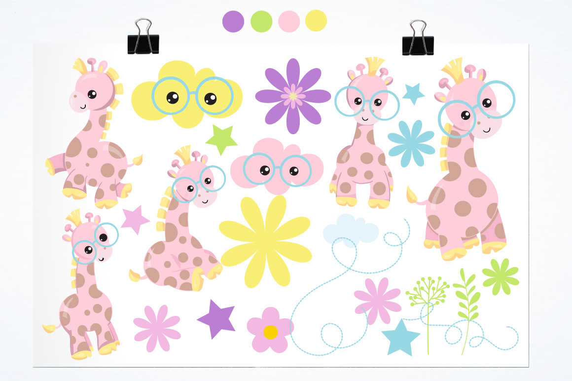 Spring Giraffe graphics and illustrations example image 2