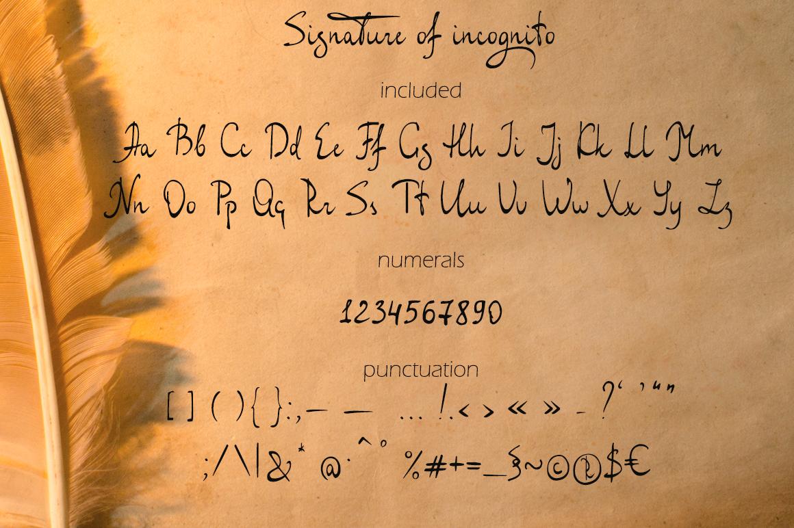Signature of incognito example image 6