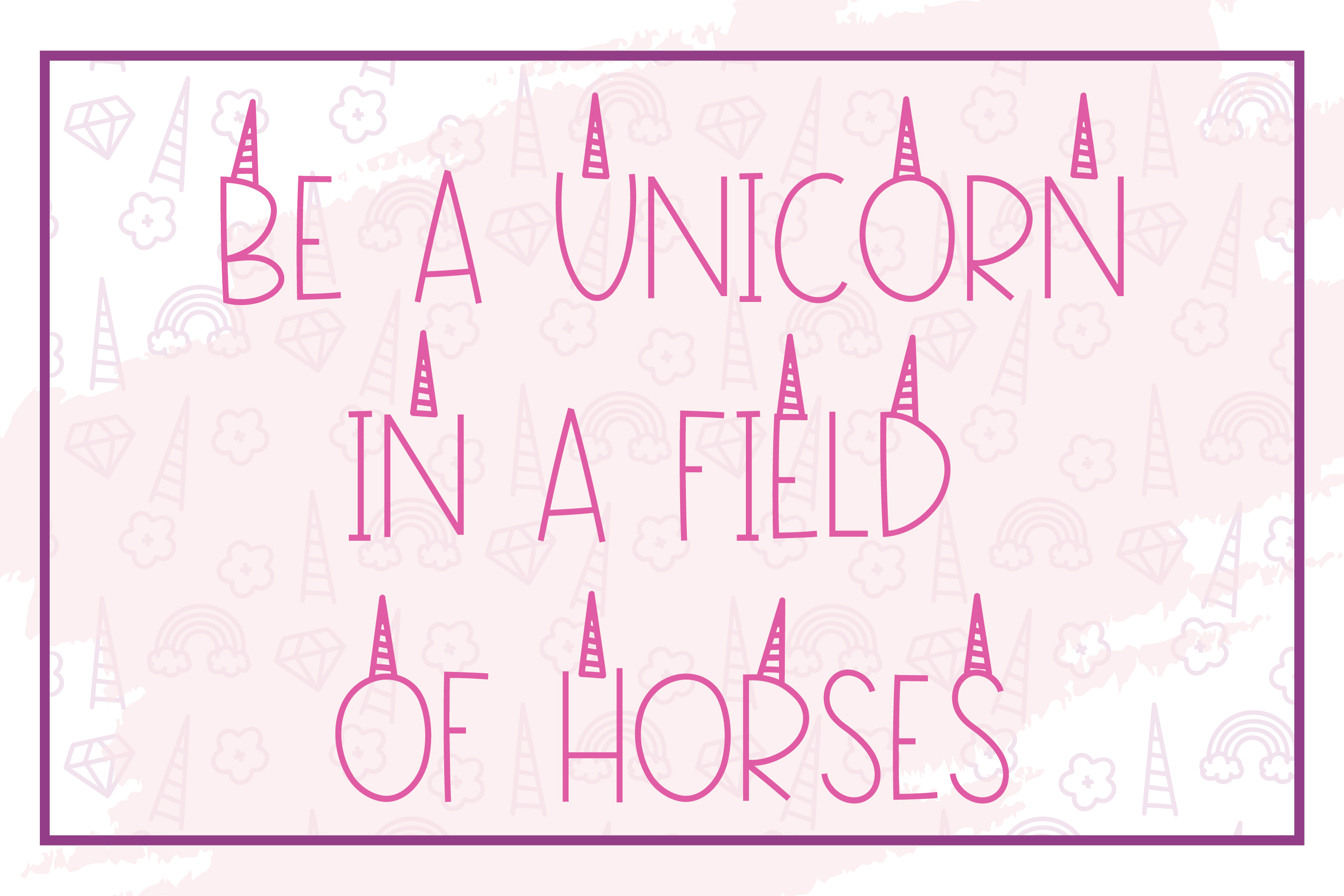 Pink Unicorn - A Magical Monogram Font example image 7