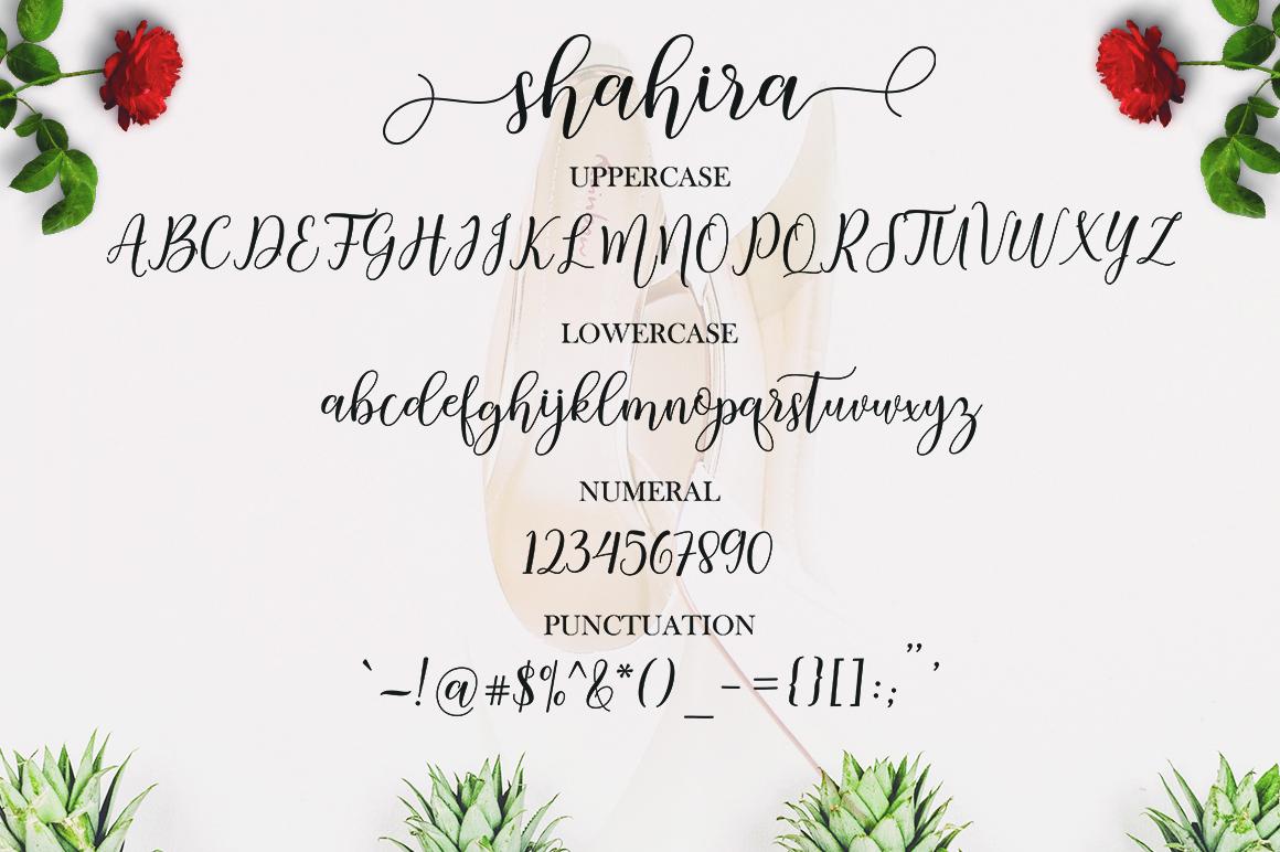 Shahira script example image 6