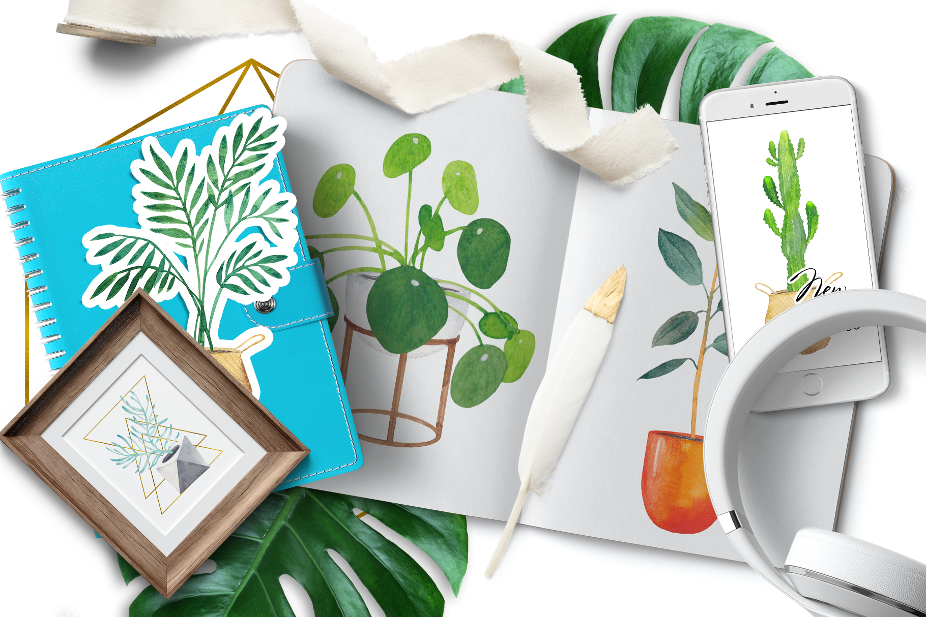 Scandi house plants interior creator example image 2