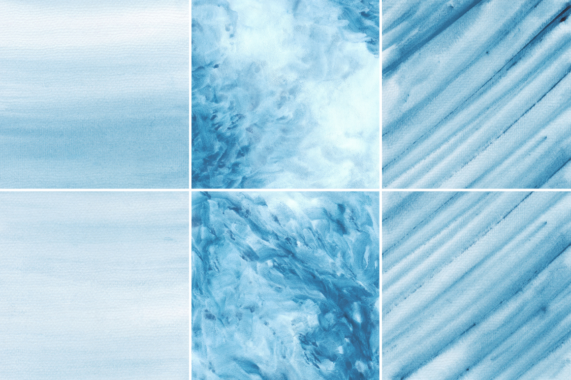Blue Watercolor Texture Backgrounds example image 4