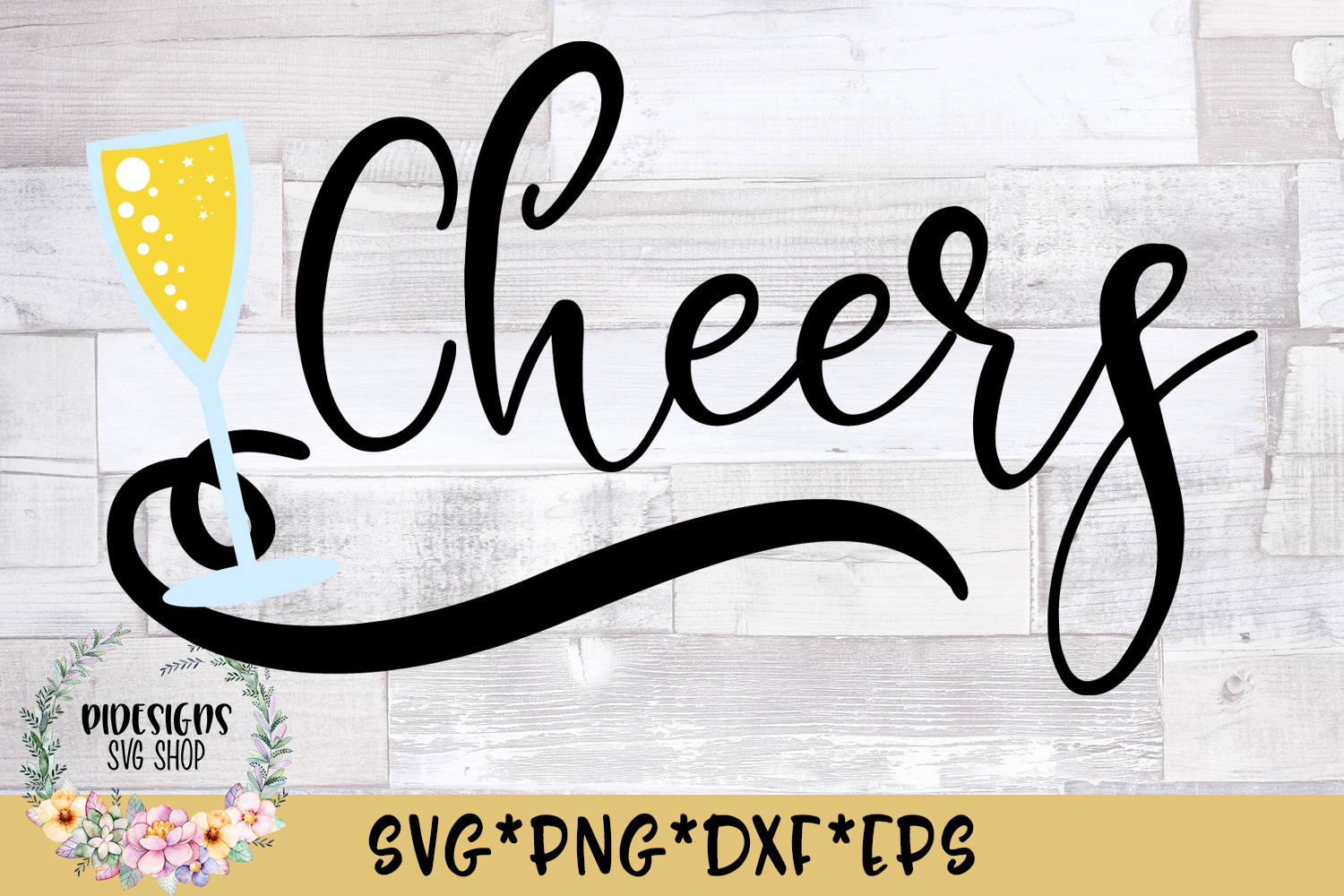 Cheers SVG Cut File example image 1