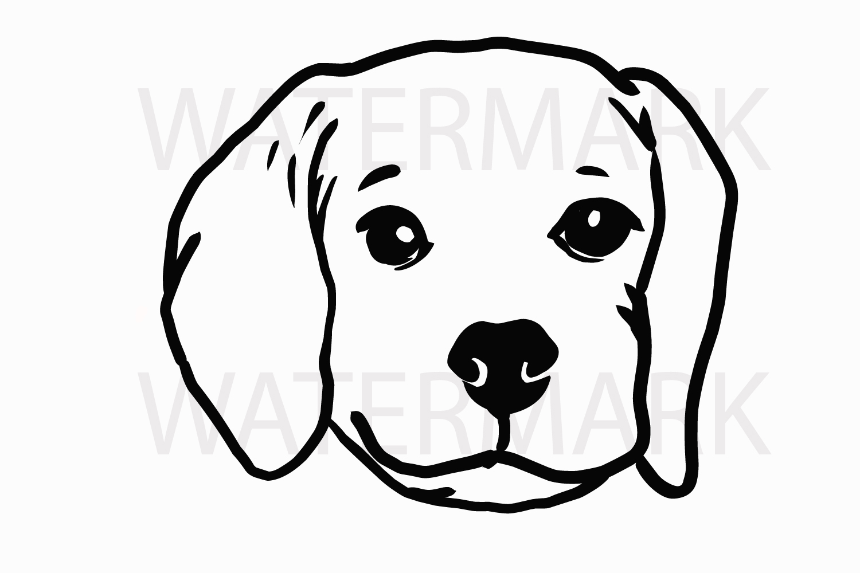 Dog Head Svg Jpg Png Hand Drawing