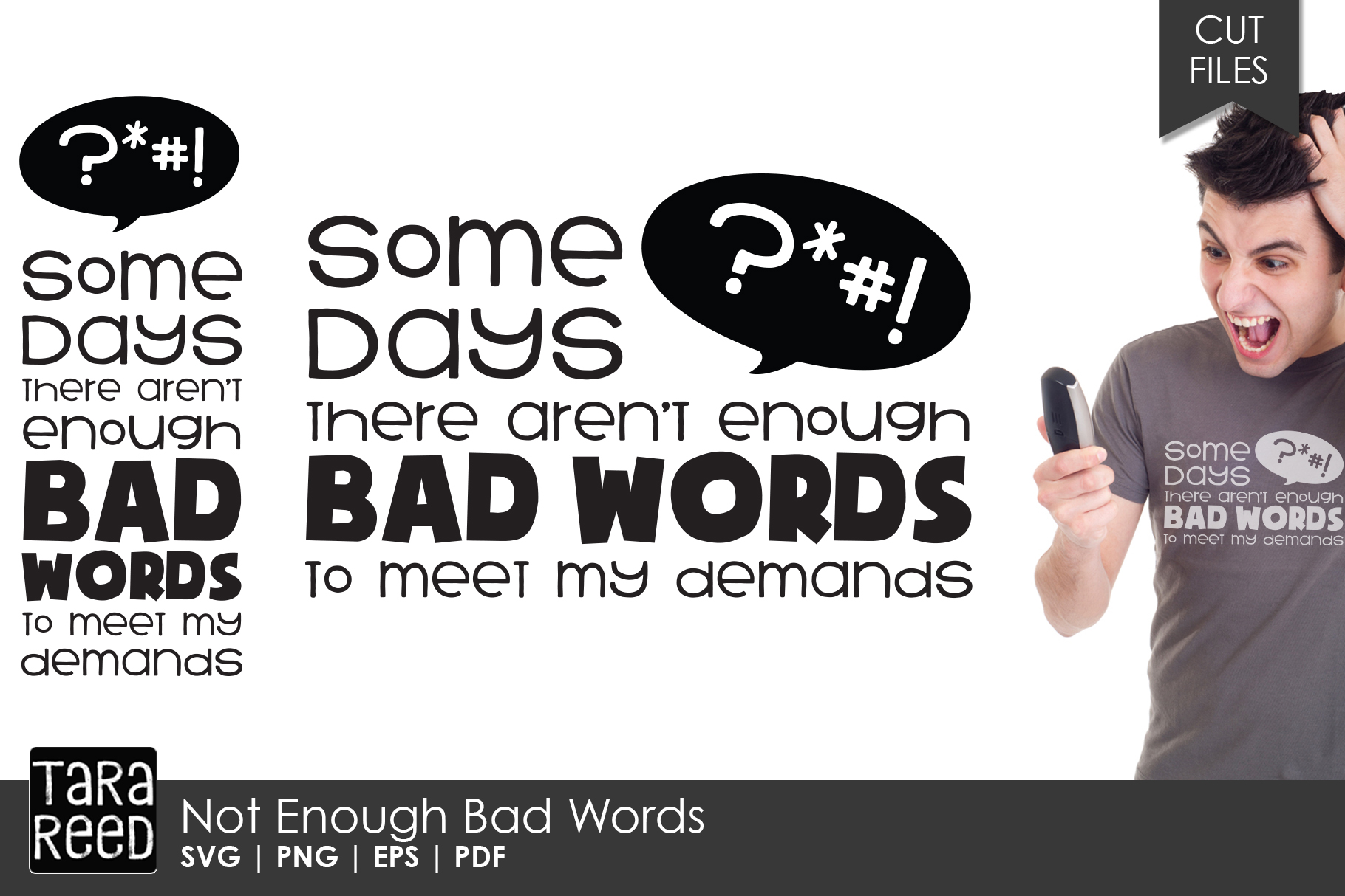Not Enough Bad Words - Sarcastic SVG and Cut Files example image 1