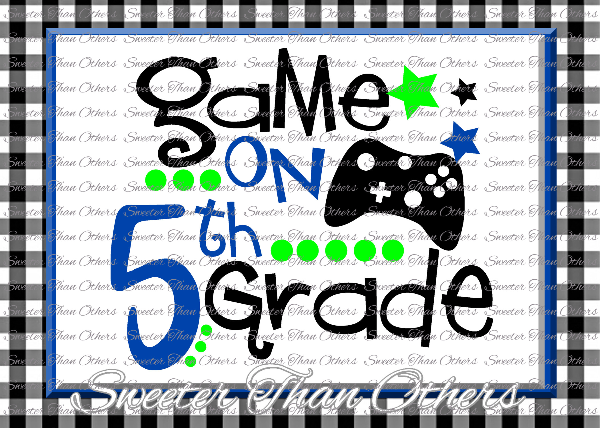 Fifth Grade SVG 5th Grade Game on cut file example image 1