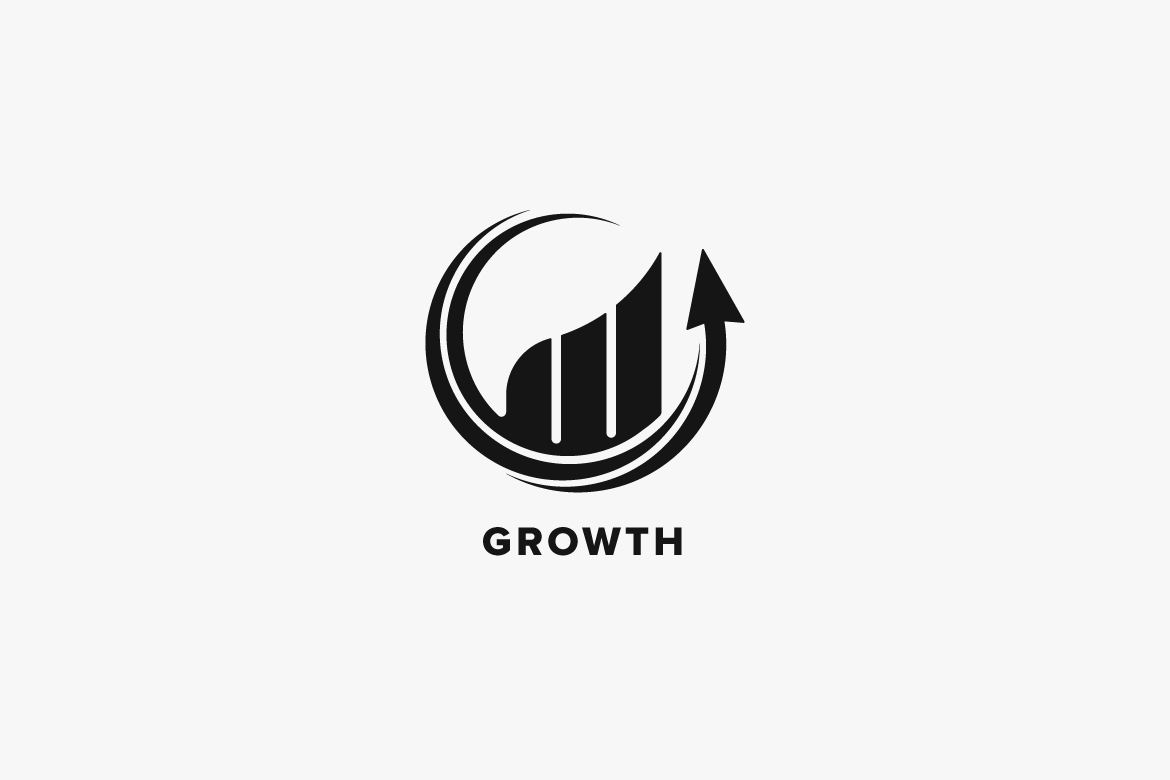 Growth Market Logo Template example image 4