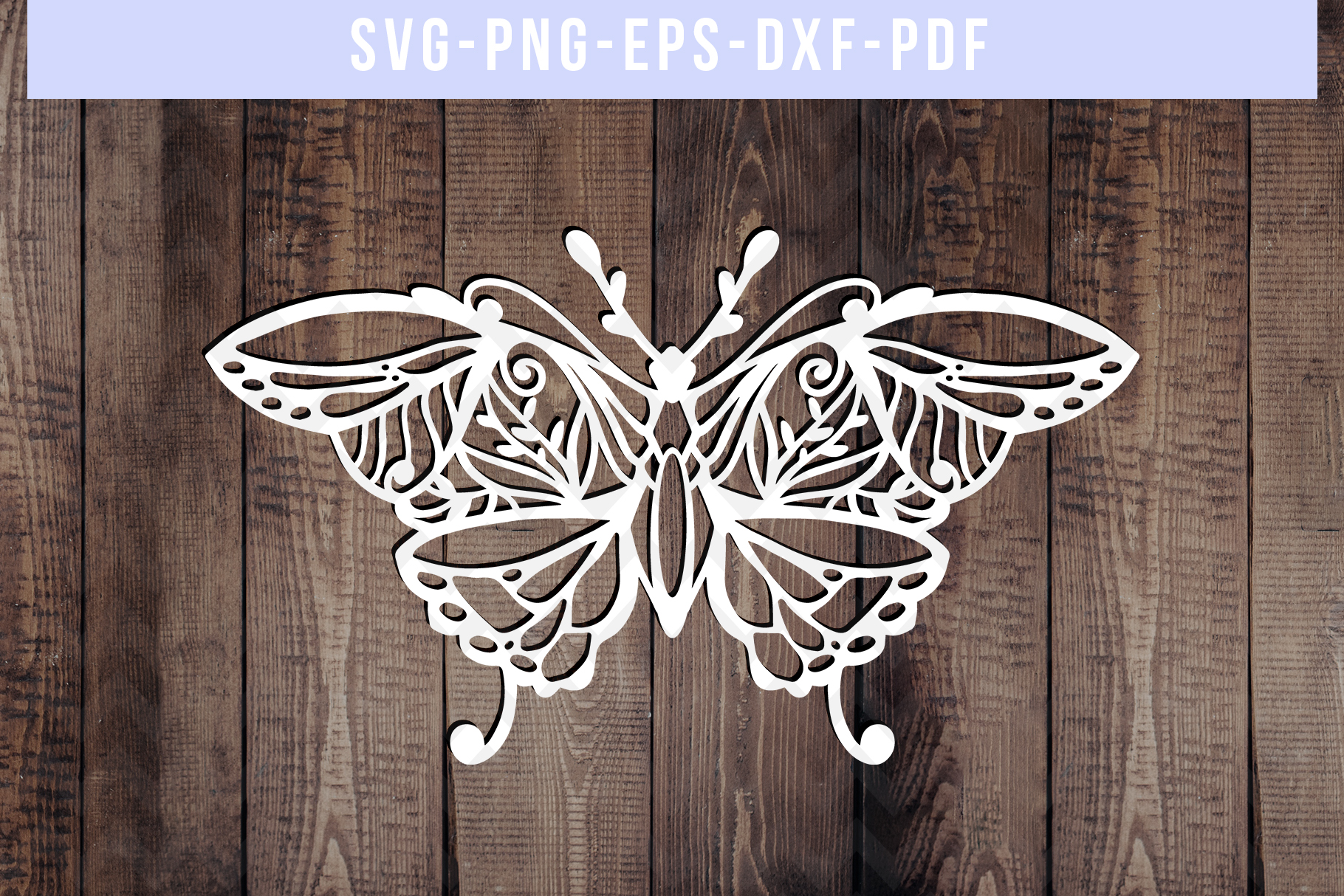 Bundle Of 9 Butterfly Papercut Templates, Paper Art DXF PDF example image 4