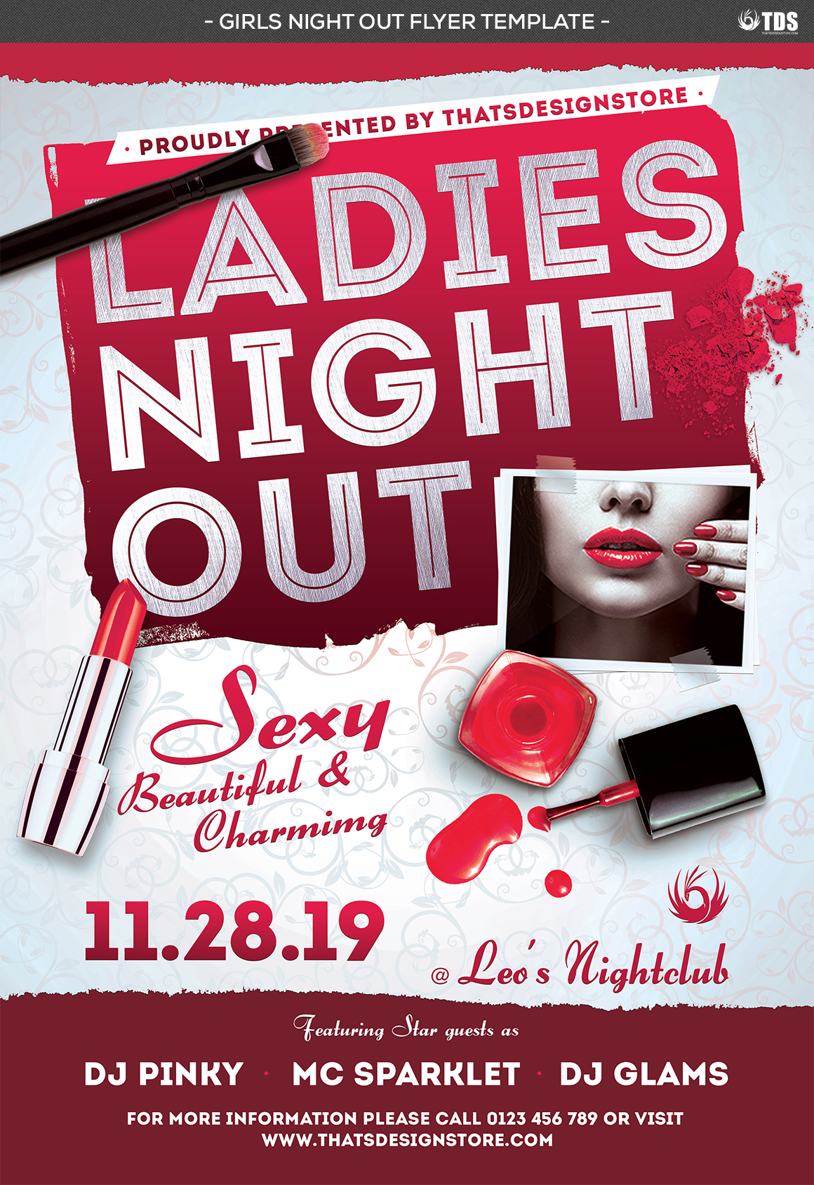 Girls Night Out Flyer Template example image 5