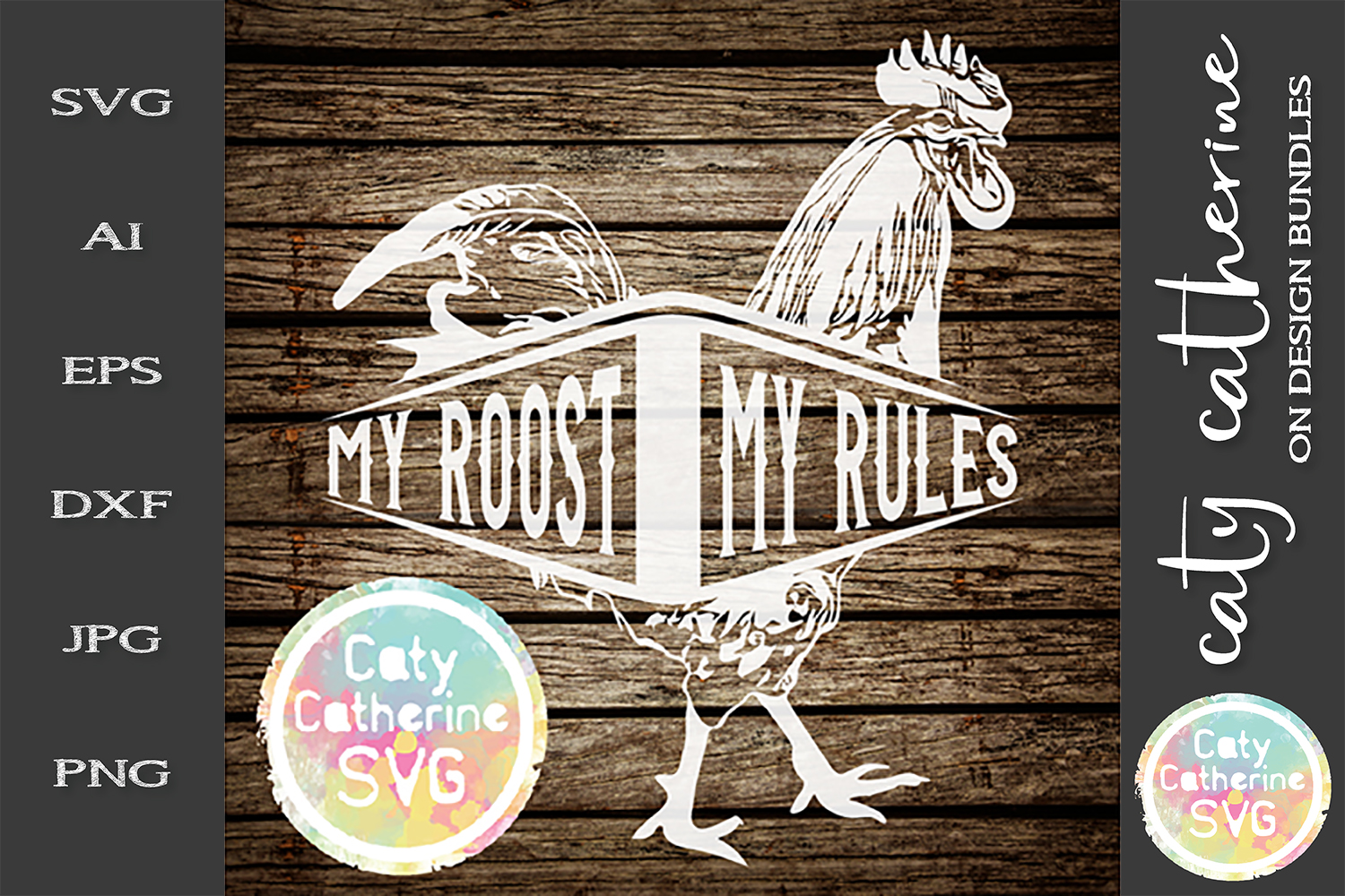 My Roost My Rules SVG Cut File example image 1