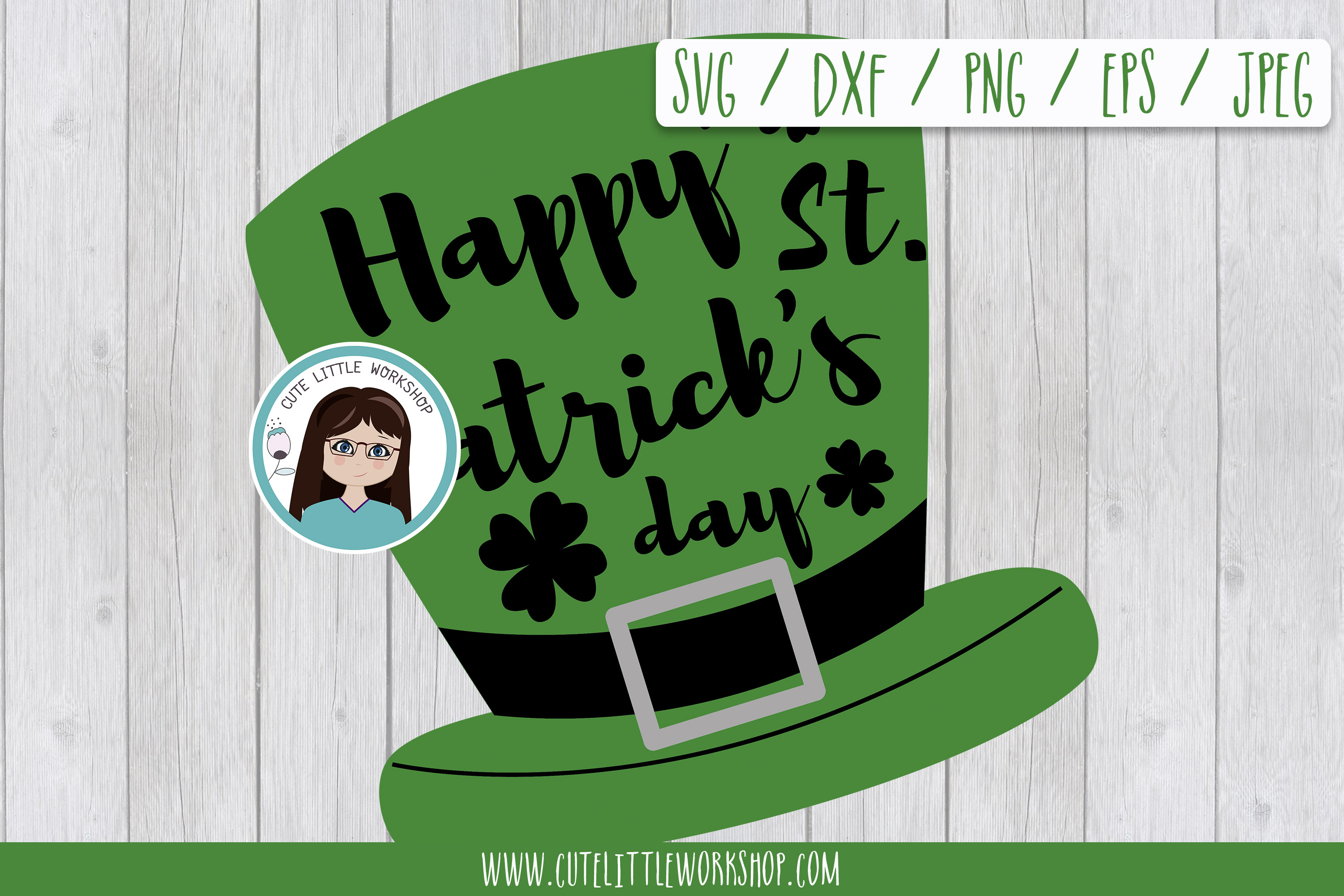 hsppy St. Patrick's daySt patrick's SVG DXF PNG JPEG EPS example image 1